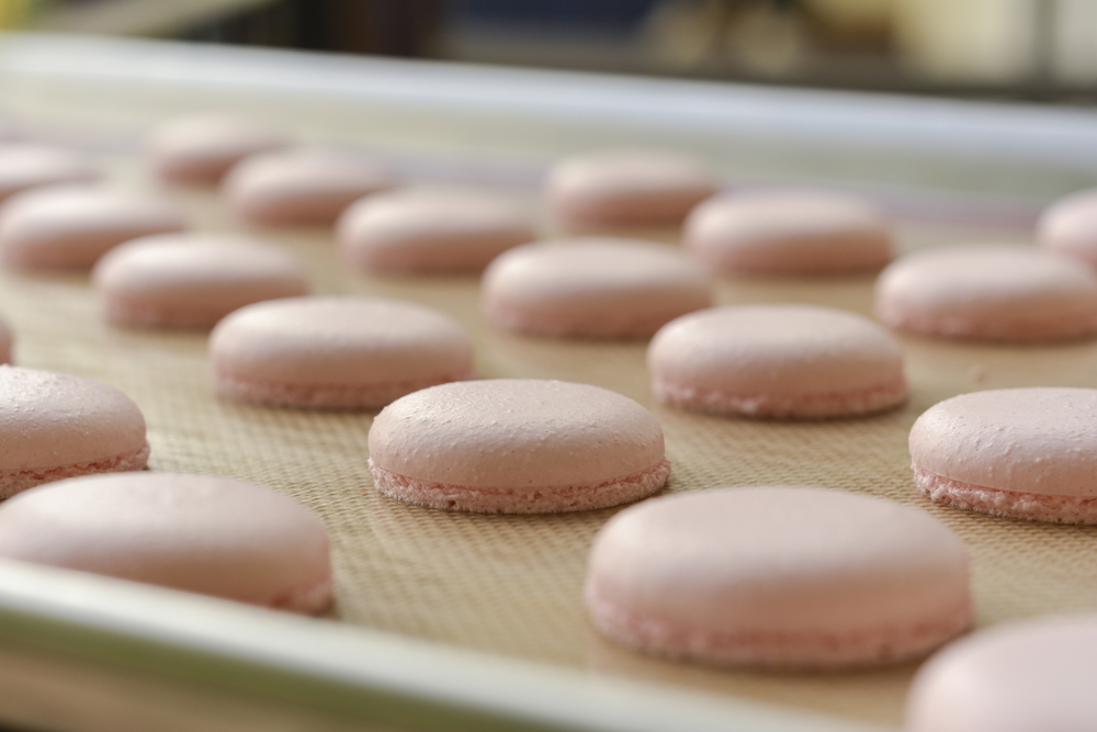 macarons being made, making macarons, macaron making process