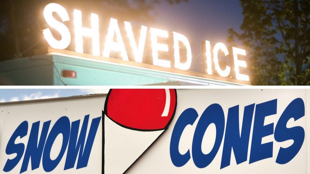 shaved ice vs snow cones