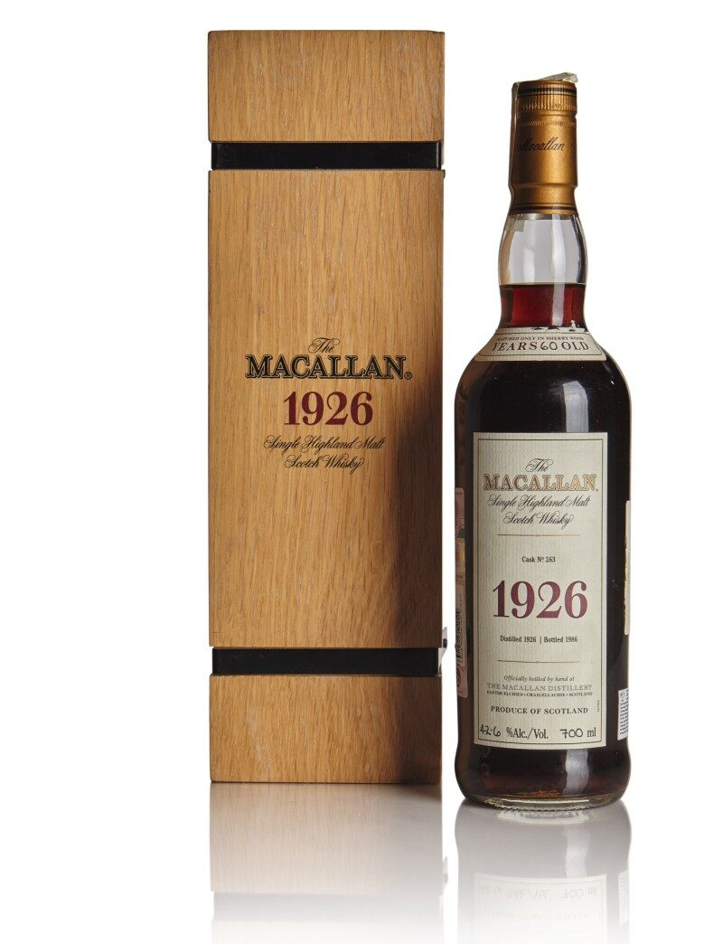 The Macallan 1926 whiskey cost