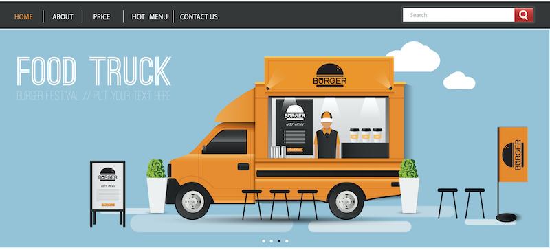 build snow cone business website