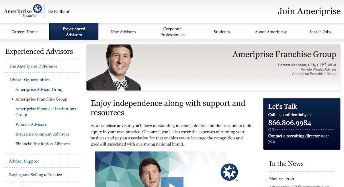 start Ameriprise Financial franchise