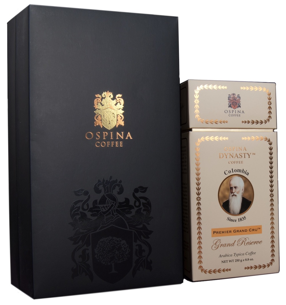 Ospina Dynasty Gran Café Premier Classé Grand Cru coffee price, most expensive coffees