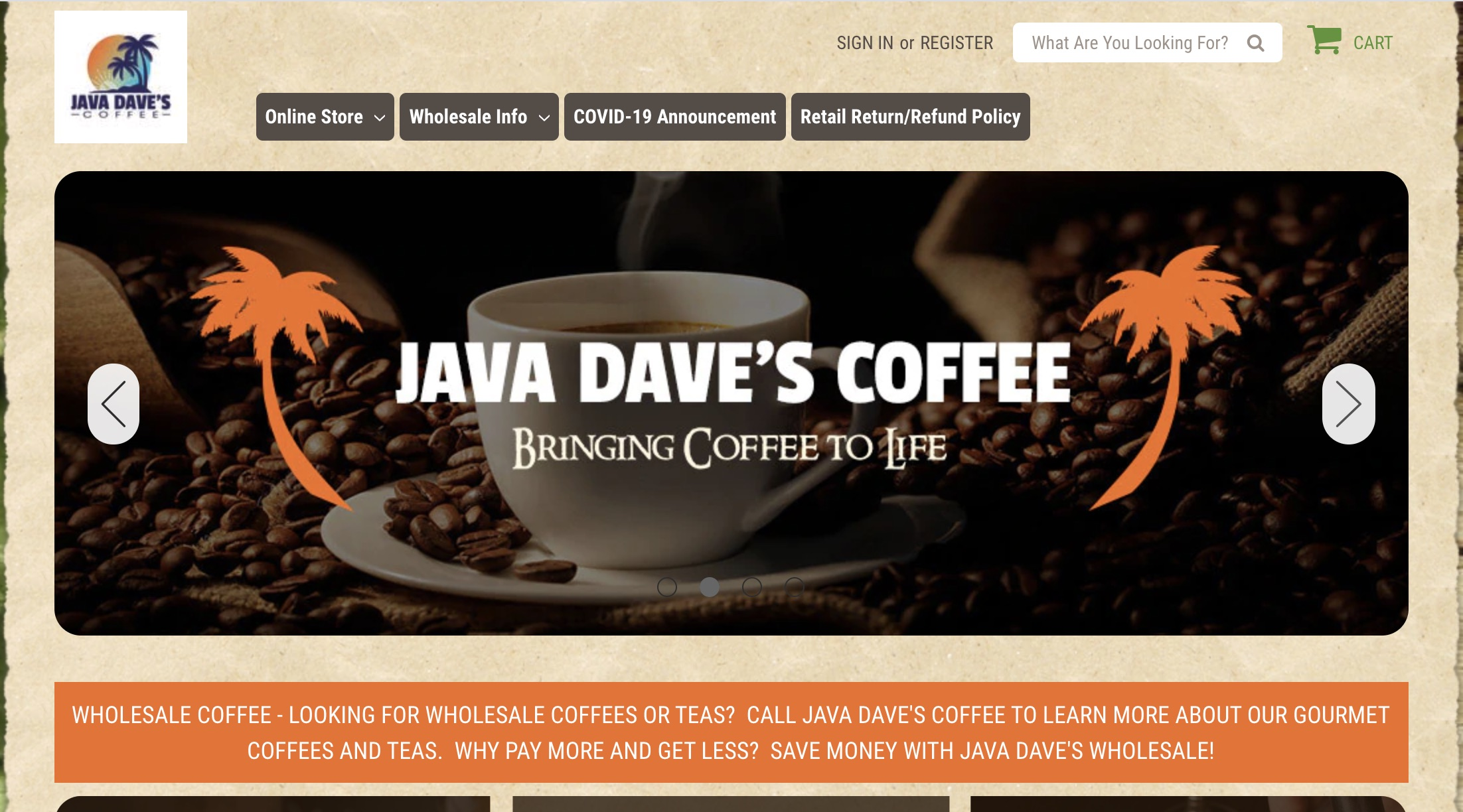 Java Dave's Coffee franchise cost