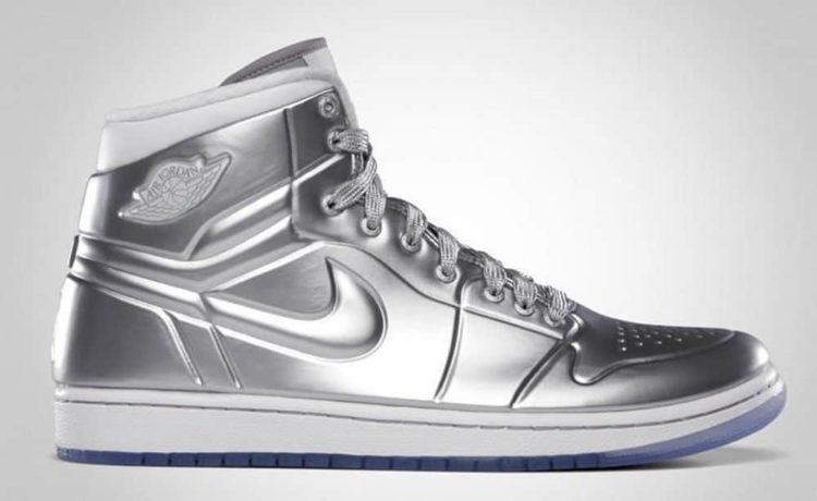 Air Jordan Silver Shoe Autographed price