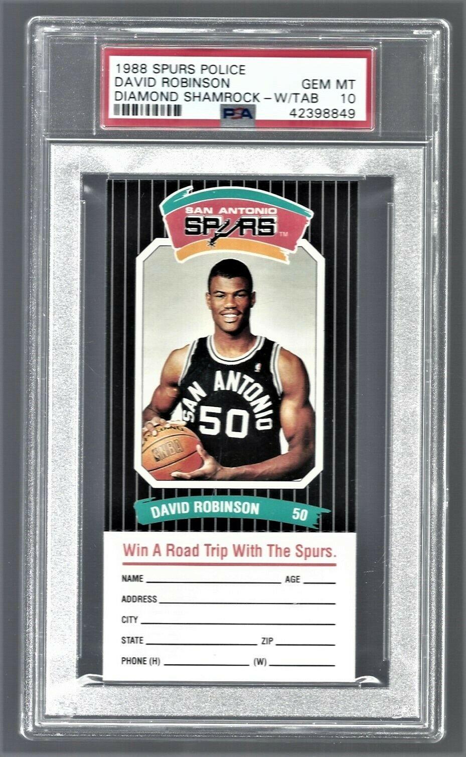 1988-89 Diamond Shamrock San Antonio Police David Robinson Card PSA 10 price