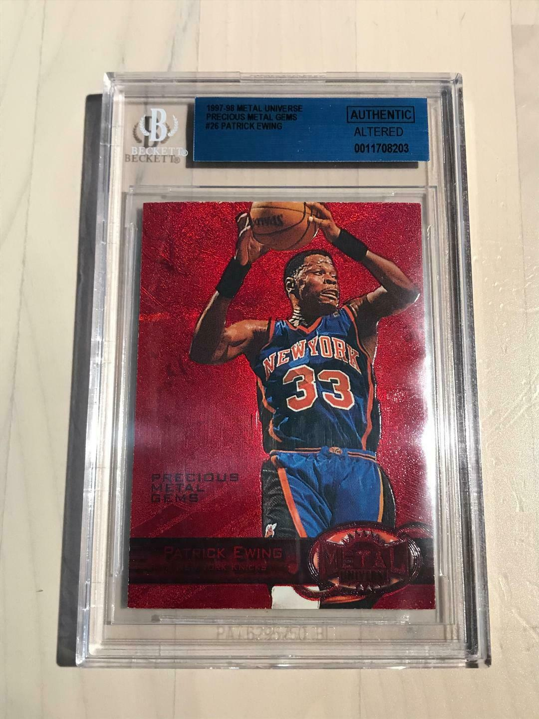 most expensive patrick ewing basketball card